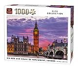King 5658Big Ben Uhr und Parliament House London UK City Puzzle (1000Teile)