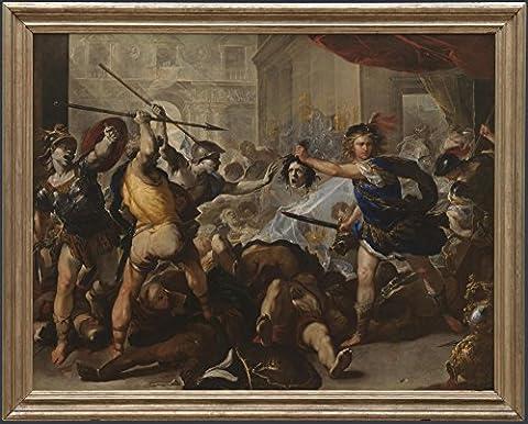 The Museum Outlet–Luca Giordano–Perseus Turning Phineas et ses Abonnés au Pierre, Tendue sur toile Galerie enveloppé. 96,5x