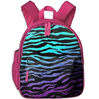 Purple Blue Green Camouflage Zebra Stripes Double Zipper Closure Waterproof Children Schoolbag Backpacks with Front Pockets for Teens Boy Girl