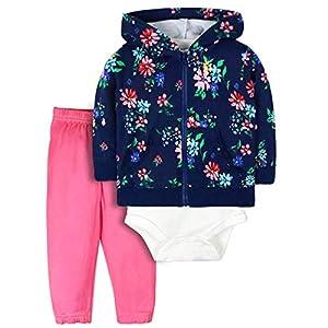 ZEVONDA Conjuntos Bebé Niños y Niñas 100% Algodón - Chaqueta con Capucha y Pantalones con Body de Manga Corta Conjunto… 15