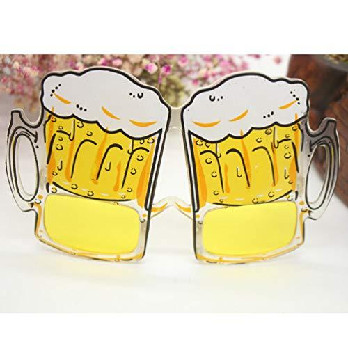 STOBOK 6 Pezzi Divertenti Bicchieri da Birra Occhiali da Vista Boccali di Birra Occhiali a straripamento Bicchieri da Birra per la Fase in Costume mostrata