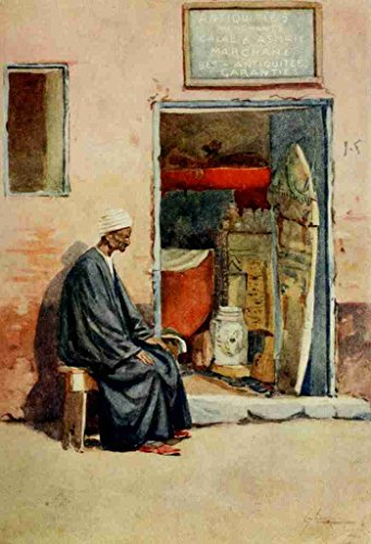 A4 Photo Thackeray Lance 1869 1916 The People of Egypt 1916 Seller of antiques Print Poster