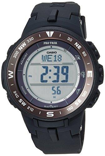 Casio Men's 'Pro Trek' Quartz Resin Watch, Color:Black (Model: PRG-330-1CR)