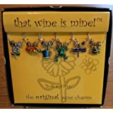 That wine is mine! Wine Glass Charms - Buds and Bugs