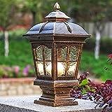 Säulenlampe Europäischen Stil einfache wasserdichte rostfreie Aluminiumsäule Lampe Pavillon Garten Licht im Freien