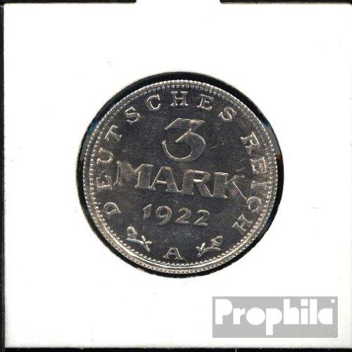 Deutsches Reich Jägernr: 302 1922 A sehr schön Aluminium 1922 3 Mark Reichsadler ohne Umschrift (Münzen für Sammler)