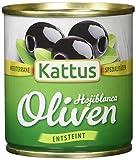 Produkt-Bild: Kattus Spanische schwarze Oliven, entsteint, 8er Pack (8 x 80 g)