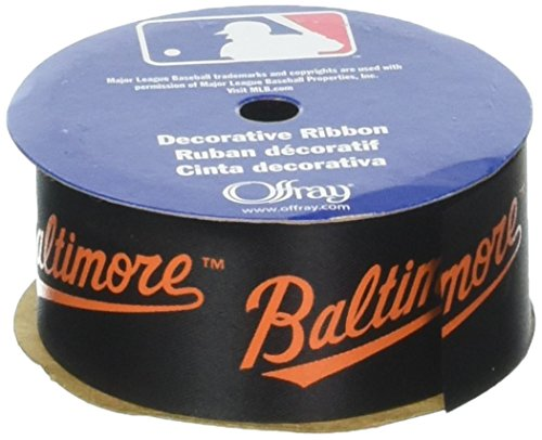 Offray MLB Baltimore Orioles Stoff Band, 1-5/40,6 cm X 9 ft