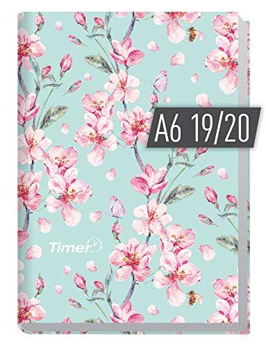 Chäff-Timer Mini A6 Kalender 2019/2020 [Floral] Terminplaner 18 Monate: Juli 2019 bis Dezember 2020 | Wochenkalender, Organizer, Terminkalender mit Wochenplaner - Top organisiert durchs Jahr!