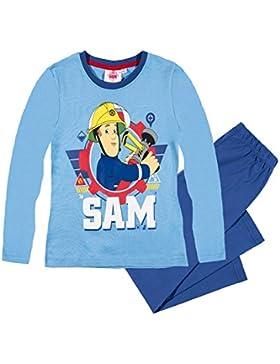 Feuerwehrmann Sam Jungen Pyjama Schlafanzug 2016 Kollektion - blau