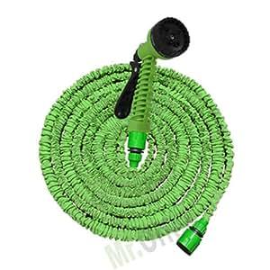 Canna dell'acqua avvolgibile Magic Hose, indispensabile pompa flessibile allungabile 30 metri completo di pistola idropulitrice, che viene utilizzato per innaffiare o irrigare le piante e il prato del tuo giardino