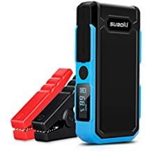 Suaoki U10 - Jump Starter de 20000mAh, 800A Batería Arrancador de Coche (Batería Externa Recargable, LED Flashlight, Multifunción, Con pinzas inteligentes) Azul