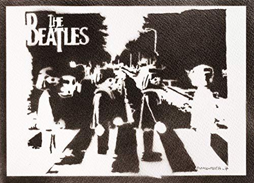 Poster The Beatles Playmobil Clicks Handmade Graffiti Street Art - Artwork