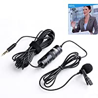 BOYA BY-M1 3.5mm Electret Condenser Microphone with 1/4\ adapter for Smartphones iPhone DSLR Cameras PC