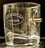 HandMade WhiskyGlas mit echtem Geschoß cal.308 und WunschGravur Option. Originelle Männer Geschenkidee