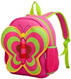 Kids Backpacks, Georgie Porgy [Cute] Kids Backpacks Girls Boys Backpacks Best [School] [Hiking] [Travel] Sidekick Bags, Cute Butterfly Pack Backpacks, Hot Pink