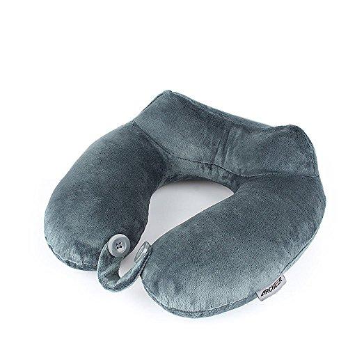 Almohada cervical Ergonómica para el cuello Colabora en la prevención de dolores por malas posiciones Suave y compacta tipo látex Con bolsa portátil Almohada de viaje