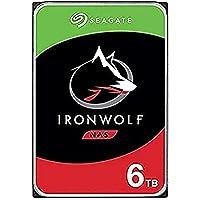 Seagate IronWolf 6 TB HDD, NAS interne Festplatte (8, 9 cm (3, 5 Zoll), 7200 U/Min, 256 MB Cache, SATA 6 Gb/s, silber…
