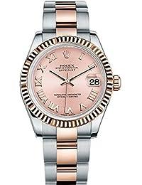 rolex lady datejust setzt 31 stahl rose gold watch pink zifferblatt 178271