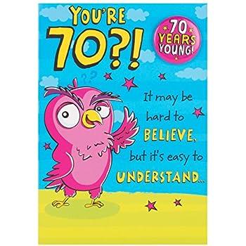 Hallmark 70th Birthday CardYoure 70