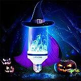 LED Blau Flamme Glühbirne?E27 Led Glühbirne Feuer Glühbirne?bewegliche flackernde Feuereffekt LED Flamme lampe 7W mit 4 Modi Feuer Effect Birne Und Schwerkraftfühler Dekorative Leuchte für (2 Packung) Test