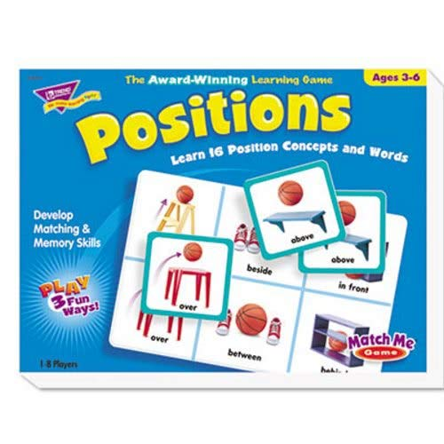 Positionen Match Me Puzzle Game, Alter 5–8, verkauft als je 1