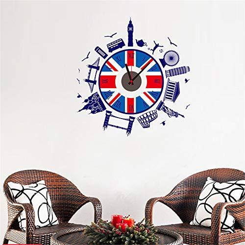 Ufengke Reloj Pared Estilo Británico Pegatinas