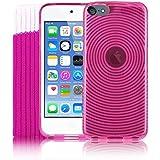 Kolay iPod Touch 6, Rose Gel Housse en silicone + Protecteur d'écran + chaussette pour Apple iPod Touch 6G (6.GEN) 6ème génération