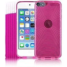 Kolay® iPod Touch 6 Funda, Rosa Funda de silicona Gel TPU Silicona, Protector de pantalla, Calcetín Cover para Apple iPod Touch 6 6G 6th Generation (6.GEN)