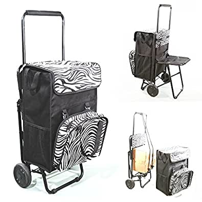 chariot de course caddie sac isotherme 50 l. Black Bedroom Furniture Sets. Home Design Ideas