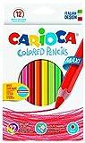 Carioca Sechskant Jumbo–Farbstifte (Holz, Multi, Sechskant, Schachtel aus Karton)