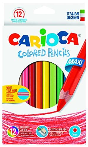 Carioca Sechskant Jumbo-Farbstifte (Holz, Multi, Sechskant, Schachtel aus Karton)
