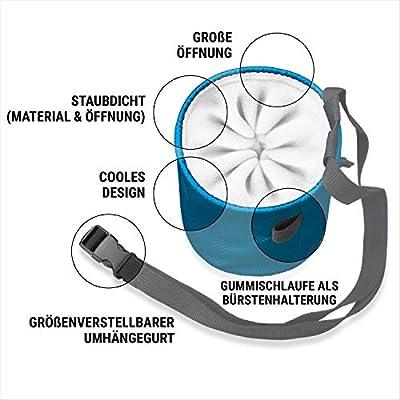 Igoera Premium Chalkbag, Magnesiabeutel (grau) | zum Klettern und Bouldern | Profiqualität | inkl. Gurt | Staubdicht von Igoera