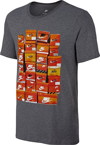 Nike Herren M Nsw Tee Vintage Shoebox Training T-Shirt, Blau gris (carbon heather / carbon heather)