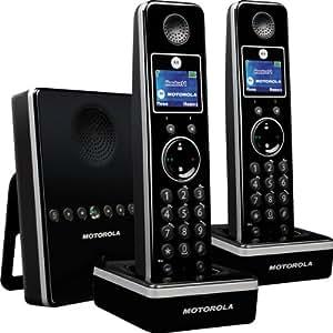 Motorola D812 W Duo Téléphone sans fil compatible GAP 2 combinés blanc