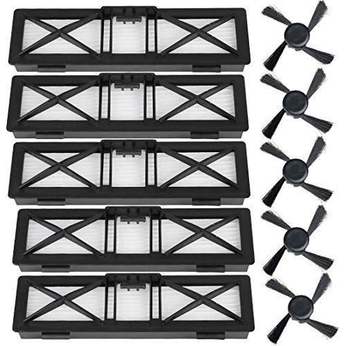 Neato Botvac Accessoires Filtres Brosse latérale pour Neato Neato Botvac série D D85, D80, D75 Neato Botvac série D5, Accessoires pour aspirateur D3 (B)