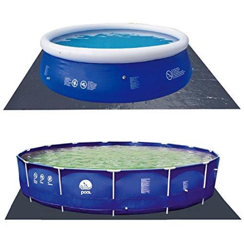 Jilong Pool Bodenplane 478x478 cm Bodenschutzplane Schutzplane Bodenfolie Schutzfolie gegen Poolboden Beschädigung, Unterlage für Pool Schwimmbecken Planschbecken Garten Schwimmbad
