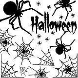 MUSCCCM Halloween toile d'araignée autocollant toile d'araignée, noir de bricolage imperméable autocollant amovible en PVC, autocollants Windows statiques à accrocher pour la fête d'Halloween