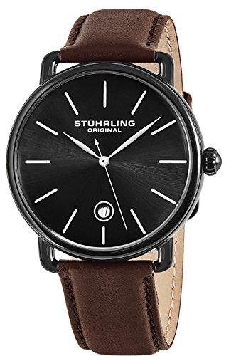 Stuhrling Original Herren-Armbanduhr Analog Quarz Leder - 768.03