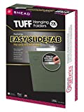 Smead TUFF® Hanging File Folder with Easy Slide™ Tab, 1/3-Cut Sliding Tab, Legal Size, Standard Green, 20 per Box (64136)