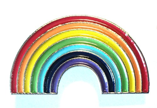 LGBT Rainbow Pride Lesbian Gay Bisexual Transgender Metal Enamel Badge Lapel Pin