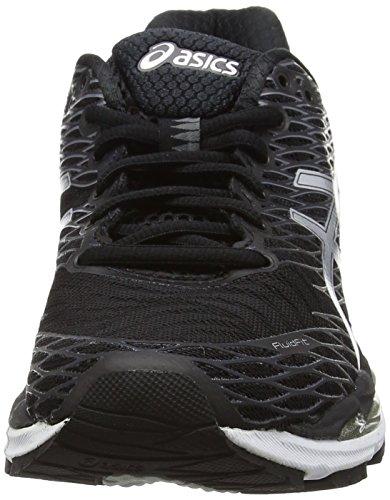 Asics Gel-Nimbus 18, Chaussures de Running Compétition Femme Noir (black/silver/carbon 9093)
