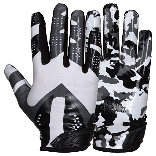 Prostyle Camo American Football Receiver Handschuhe - weiß Gr. M