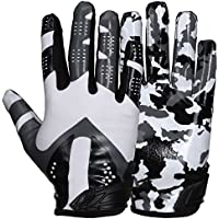 Prostyle Camo American Football Receptor Guantes, Color Weiß, Tamaño Extra-Large