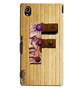 Omnam Single Name Stylish Alphabet F Printed Designer Back Cover Case For Sony Xperia M4