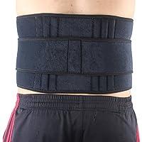 Zhuhaimei,Doble presión 6 - Protector elástico de Resorte para la Cintura - Negro(Color:Negro)