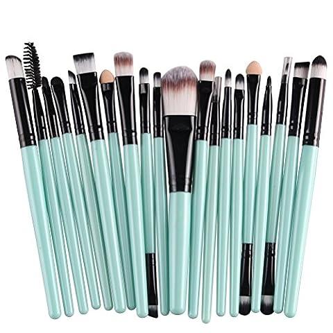 DIKETE 20 stücke Makeup Brush Set Make-up Pinsel Set professionellen Kosmetik Set Satz Schmink Pinselset etui Kosmetik Lidschatten Gesichtspinsel kosmetischer Concealer Bürsten Satz Powder Werkzeuge grün