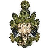 CraftVatika Antique Ganesh Wall Hanging Mask Ganesha Face Wall Hanging Mask Antique Brass Decorative Wall Hangings