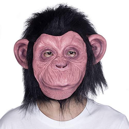 PJHGS Schimpanse Affen Maske Gorilla Tier Primaten Kostüm (Zombie Schimpansen Kind Kostüm)