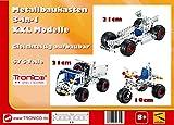 Metallbaukasten Bausatz 3-in-1 XXL Modelle, Multibaukasten, 576 Teile Baustelle Auto LKW 4-farbige Aufbauanleitung Werkzeug ab 8 Jahren Multi-Model Tronico